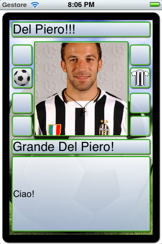 Screenshot Soccer Cards & Stickers: Create your own board game